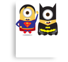 Man Of Steel and The Dark Knight Minions Canvas Print