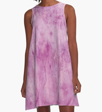 Cement wall,purple,painted,wall,contemporary art,abstract A-Line Dress