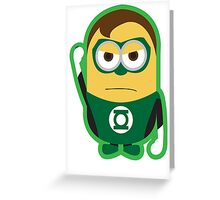 Green Lantern Minion Greeting Card