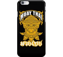 Muay Thai Hanuman Holy Fighter Martial Art Spirit iPhone Case/Skin
