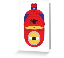 Spiderman Minion Greeting Card