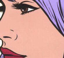 Pastel Purple Comic Girl Sticker