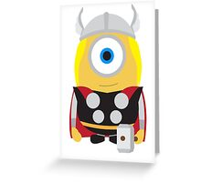 Thor Minion Greeting Card