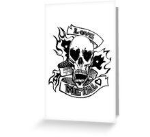 Metalhead Skull Love Greeting Card