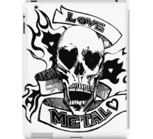 Metalhead Skull Love iPad Case/Skin