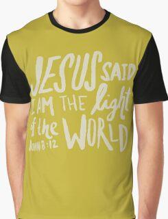John 8: 12 x Mustard Graphic T-Shirt