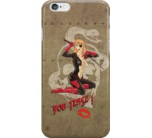Molotov Cocktease War Pin Up Bombshell iPhone Case/Skin