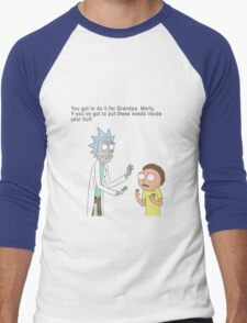 Rick and Morty Men's Baseball ¾ T-Shirt