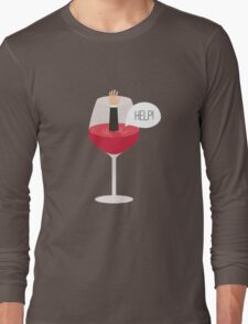 Man drowned in wine Long Sleeve T-Shirt