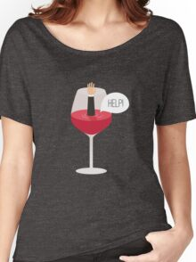 Man drowned in wine Women's Relaxed Fit T-Shirt