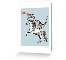 Raptor & Unicorn Greeting Card