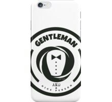 Gentleman and a Nice Person Funny Tuxedo Vintage Logo  iPhone Case/Skin