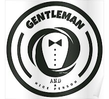 Gentleman and a Nice Person Funny Tuxedo Vintage Logo  Poster