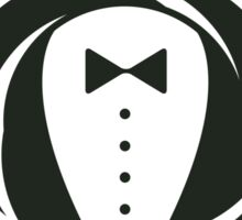 Gentleman and a Nice Person Funny Tuxedo Vintage Logo  Sticker