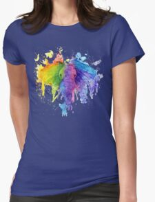 "Rainbow ""Father"" Elephant Womens Fitted T-Shirt"