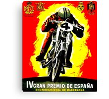 """SPANISH GRAND PRIX"" Motorcycle Racing Advertising Print Canvas Print"