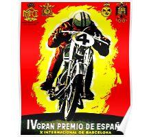 """SPANISH GRAND PRIX"" Motorcycle Racing Advertising Print Poster"