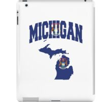 Michigan Flag Michigan Map iPad Case/Skin