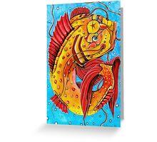 Glücksfisch Greeting Card