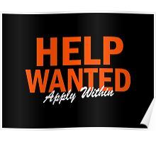 Help Wanted Apply Within Poster
