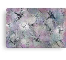 Dragonflies With Touch of Purple Canvas Print