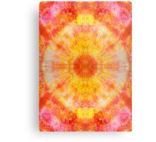 Orange Sunburst Tie-Dye Metal Print