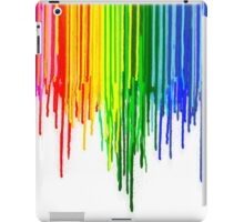 Rainbow Paint Drops on White iPad Case/Skin
