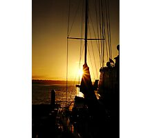 Sunset on the Harbor Photographic Print