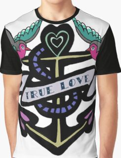 True Love Tattoo Graphic T-Shirt