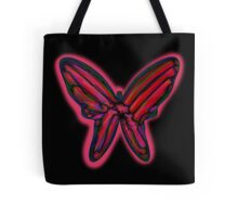 Red neon butterfly  Tote Bag
