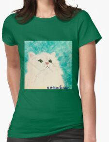 Snowy Persian Womens Fitted T-Shirt