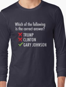 Gary Johnson for President 2016 | Vote 3rd Party T-Shirt