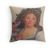 """Young Girl""  from painting by Elisabeth Vigee LeBrun Throw Pillow"