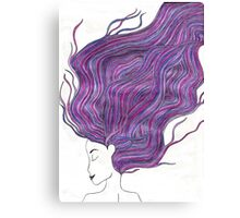 Purple Haired Girl Canvas Print