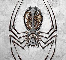 Rough Steel Steampunk Spider by Jeff Bartels
