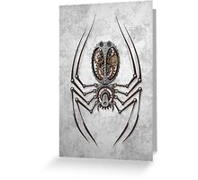 Rough Steel Steampunk Spider Greeting Card