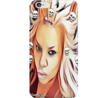 The Real Book Babes love for Skulls & Knives iPhone Case/Skin
