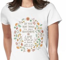 Hello Goodbye Womens Fitted T-Shirt