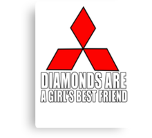 Diamonds are a girl's best friend Canvas Print