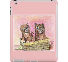 Two Orange Kittens in a Basket iPad Case/Skin