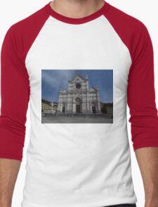 Santa Croce. Neo-Gothic Facade Men's Baseball ¾ T-Shirt