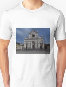 Santa Croce. Neo-Gothic Facade Unisex T-Shirt