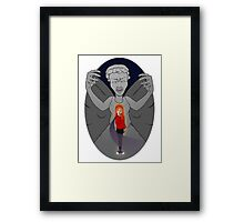 Don't Look Them in the Eye Framed Print