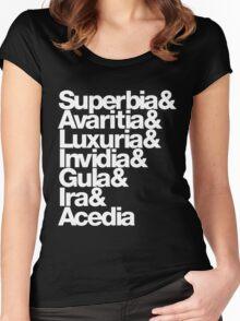 saligia (latin) Women's Fitted Scoop T-Shirt