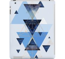 Geometric Triangle Compilation in Blue iPad Case/Skin