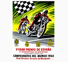 """SPANISH GRAND PRIX"" Vintage Motorcycle Advertising Print Unisex T-Shirt"