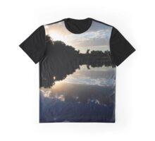 Blue Night Sunset Graphic T-Shirt