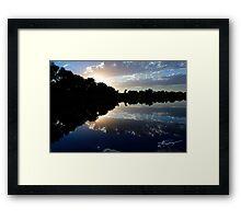 Blue Night Sunset Framed Print