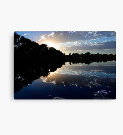 Blue Night Sunset Canvas Print
