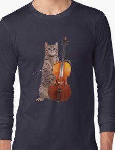Cello Cat - Meowsicians Long Sleeve T-Shirt